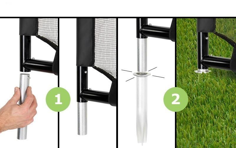 fu balltor mit torwand exit maestro goal 180x120x60cm bei. Black Bedroom Furniture Sets. Home Design Ideas