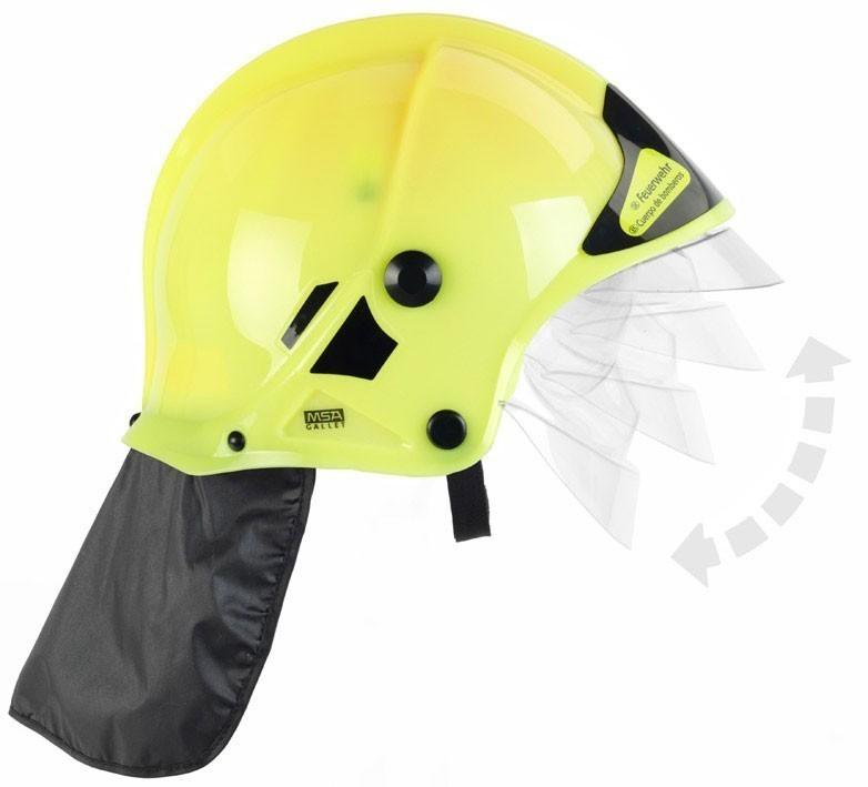 Klein Theo Feuerwehrhelm für Kinder neon gelb mit Visier Bild 1