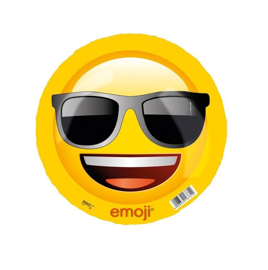 Emoji Ball cool / geschockt Kunststoff Ball Ø23cm Happy People 16731 Bild 1