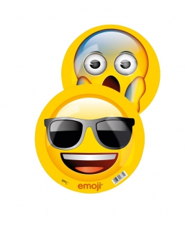 Emoji Ball cool / geschockt Kunststoff Ball Ø23cm Happy People 16731 Bild 2