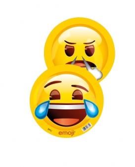 Emoji Ball lachend / wütend Kunststoff Ball Ø 23cm Happy People Bild 2