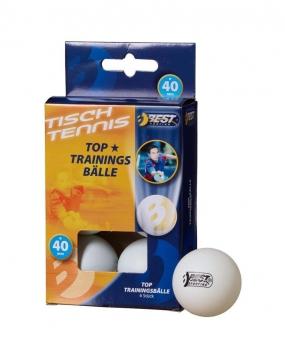 Tischtennisball / Trainingsball weiß 6Stück Bild 1