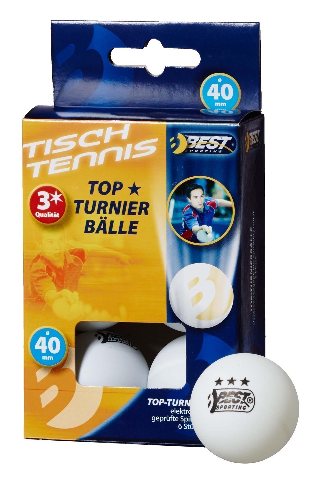 Tischtennisball / Turnierball weiß 3-Sterne 6Stück Bild 1