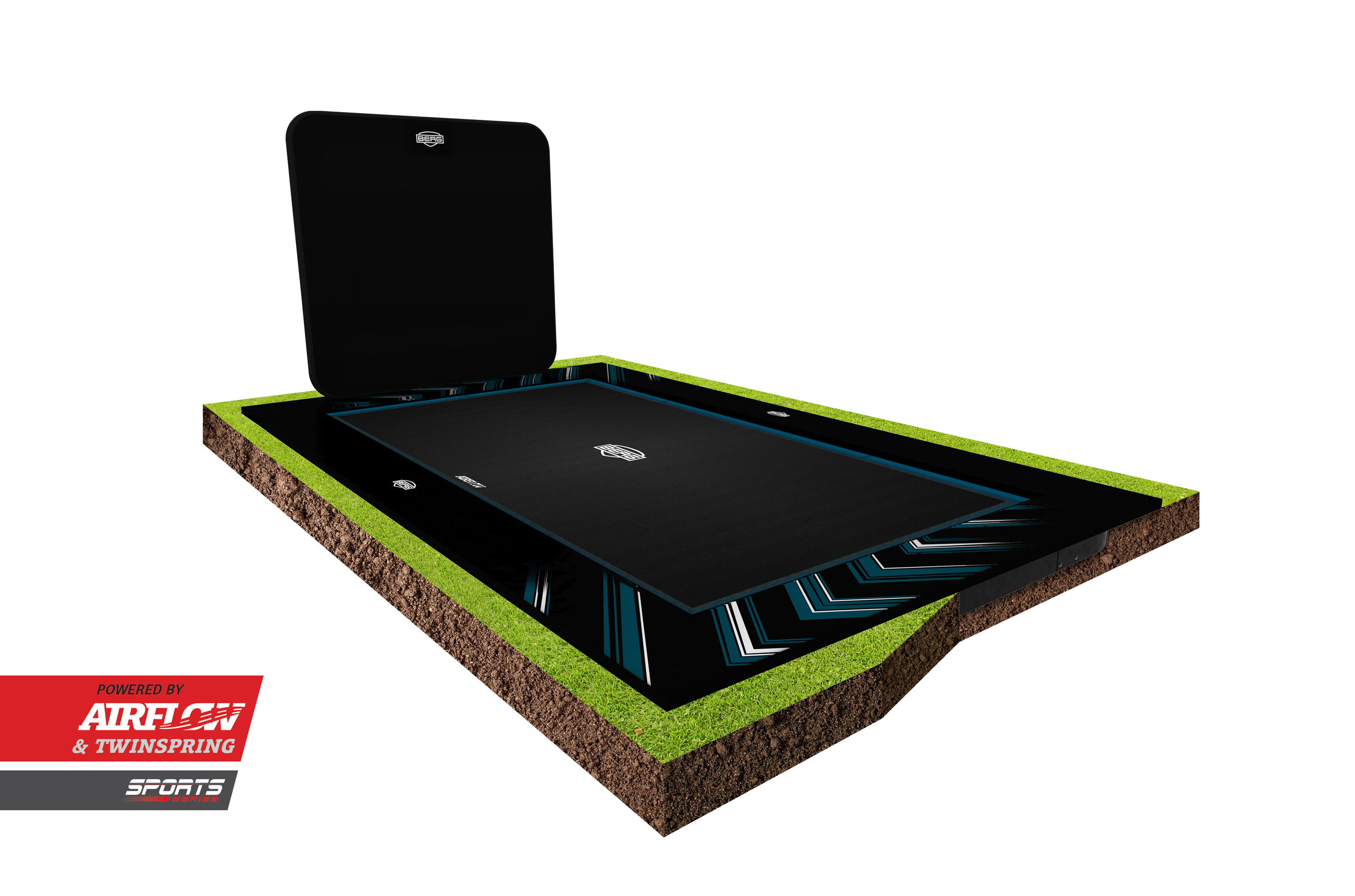 BERG AeroWall 2x2 schwarz für Sporttrampolin Ultim Elite Bild 2