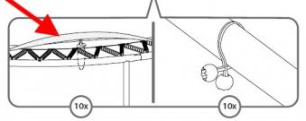 Gummizug für Trampolin Schutzrand 10 Stück BERG toys Bild 2