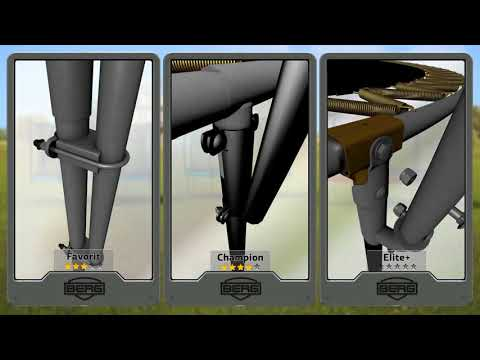 Trampolin Champion grau Levels + Netz Deluxe Ø430cm BERG toys Video Screenshot 3177