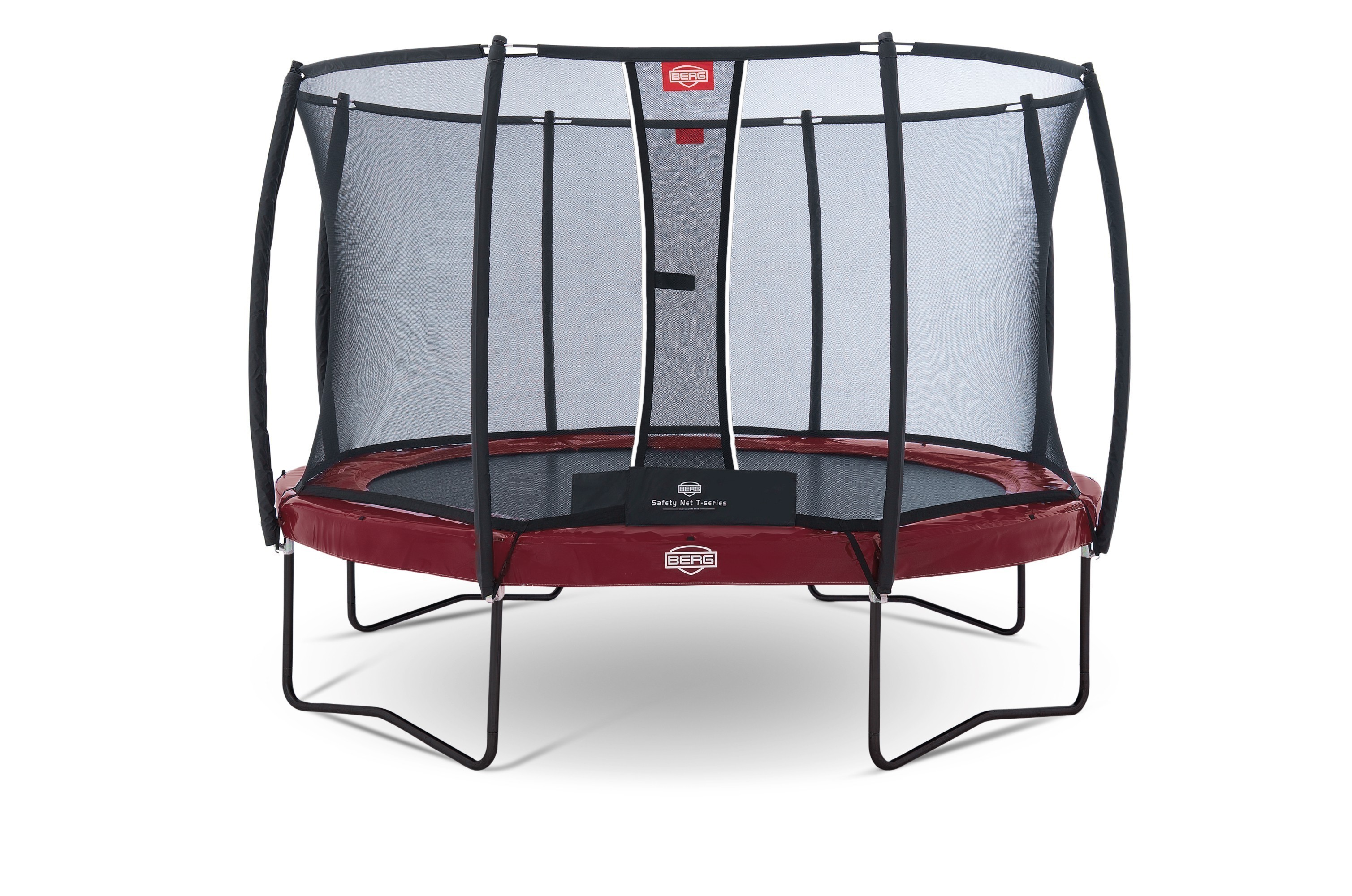 trampolin elite rot mit sicherheitsnetz t series 380cm bei. Black Bedroom Furniture Sets. Home Design Ideas