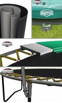 Trampolin Elite grau + Sicherheitsnetz Deluxe Ø430cm BERG toys Bild 2