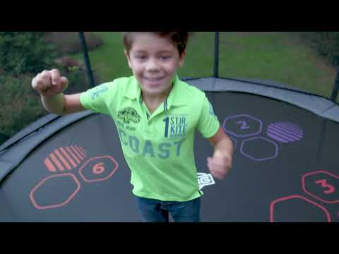 Trampolin Elite grau Levels + Sicherheitsnetz Deluxe Ø430cm BERG toys Video Screenshot 3170