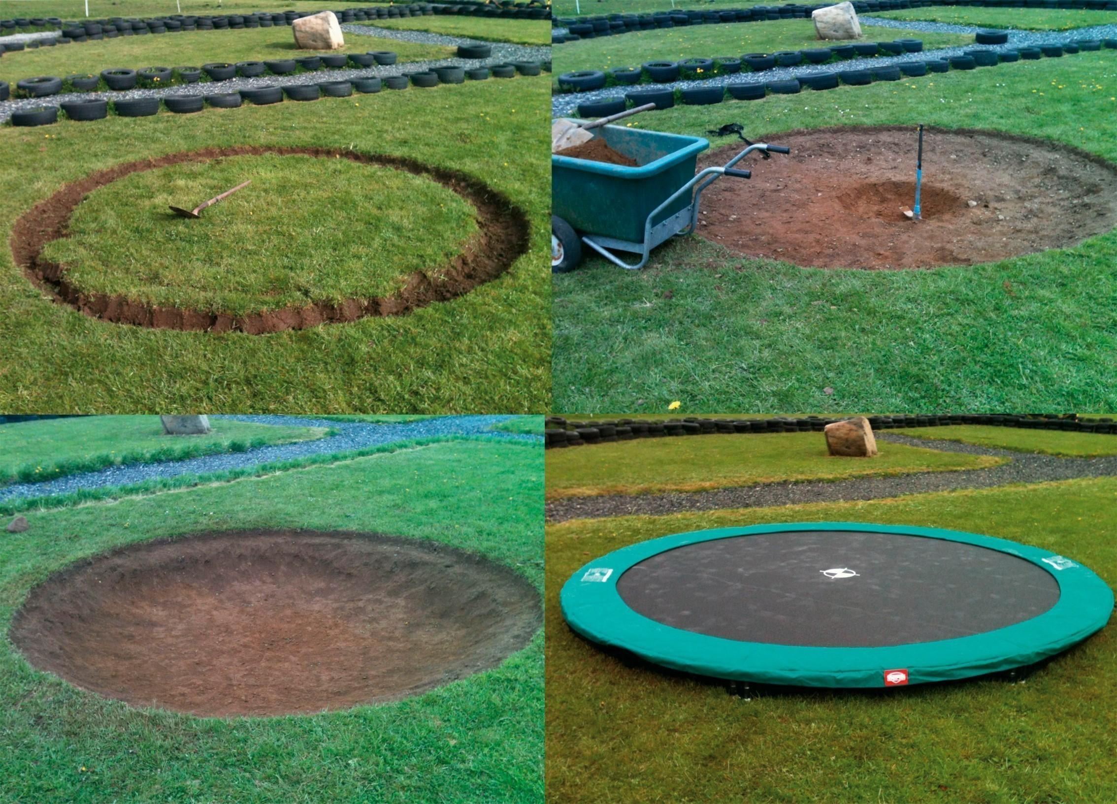 trampolin favorit inground mit sicherheitsnetz comfort 330cm bei. Black Bedroom Furniture Sets. Home Design Ideas