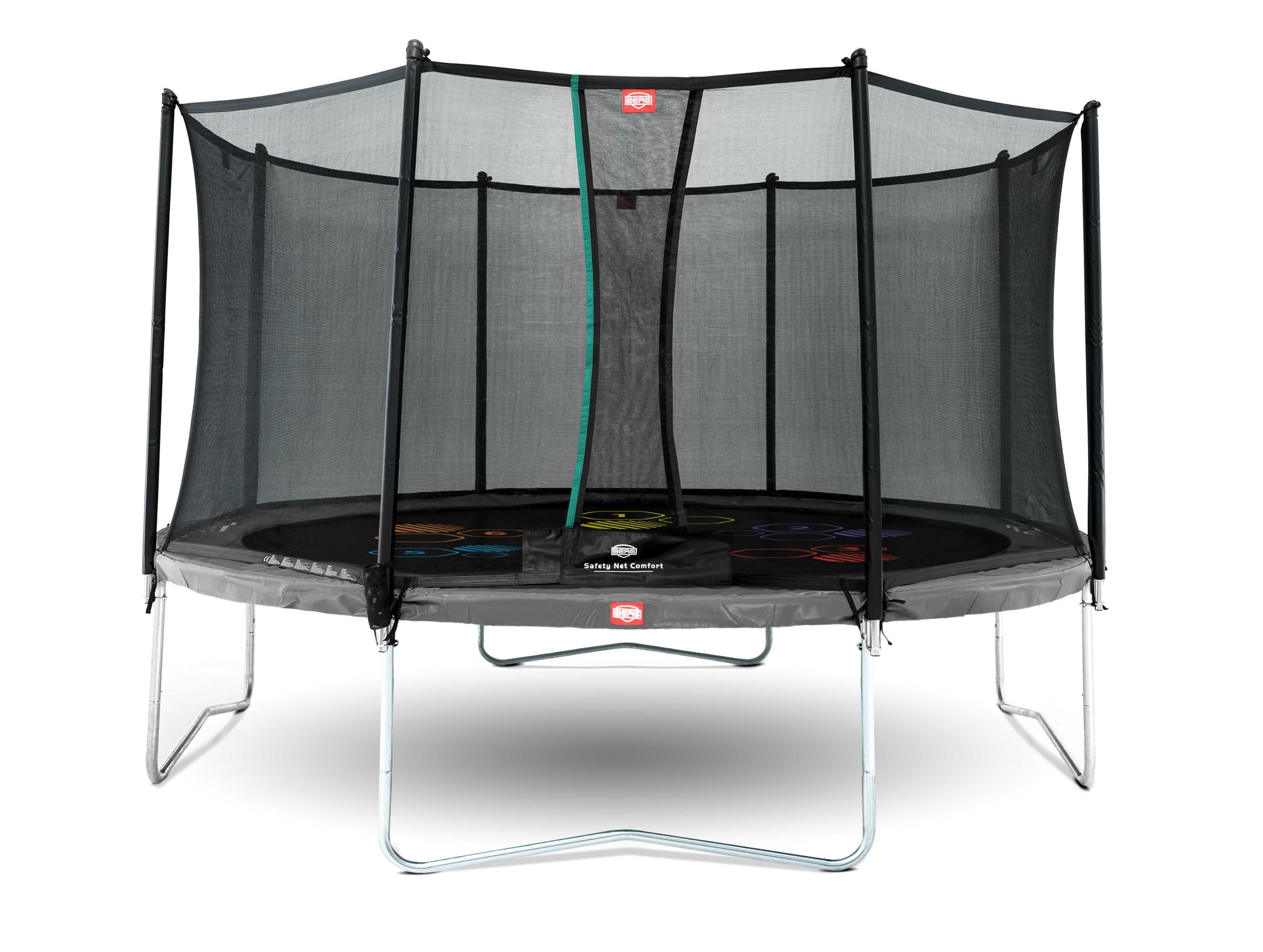 Trampolin Favorit Levels grau Sicherheitsnetz Comfort Ø430cm BERG toys Bild 1