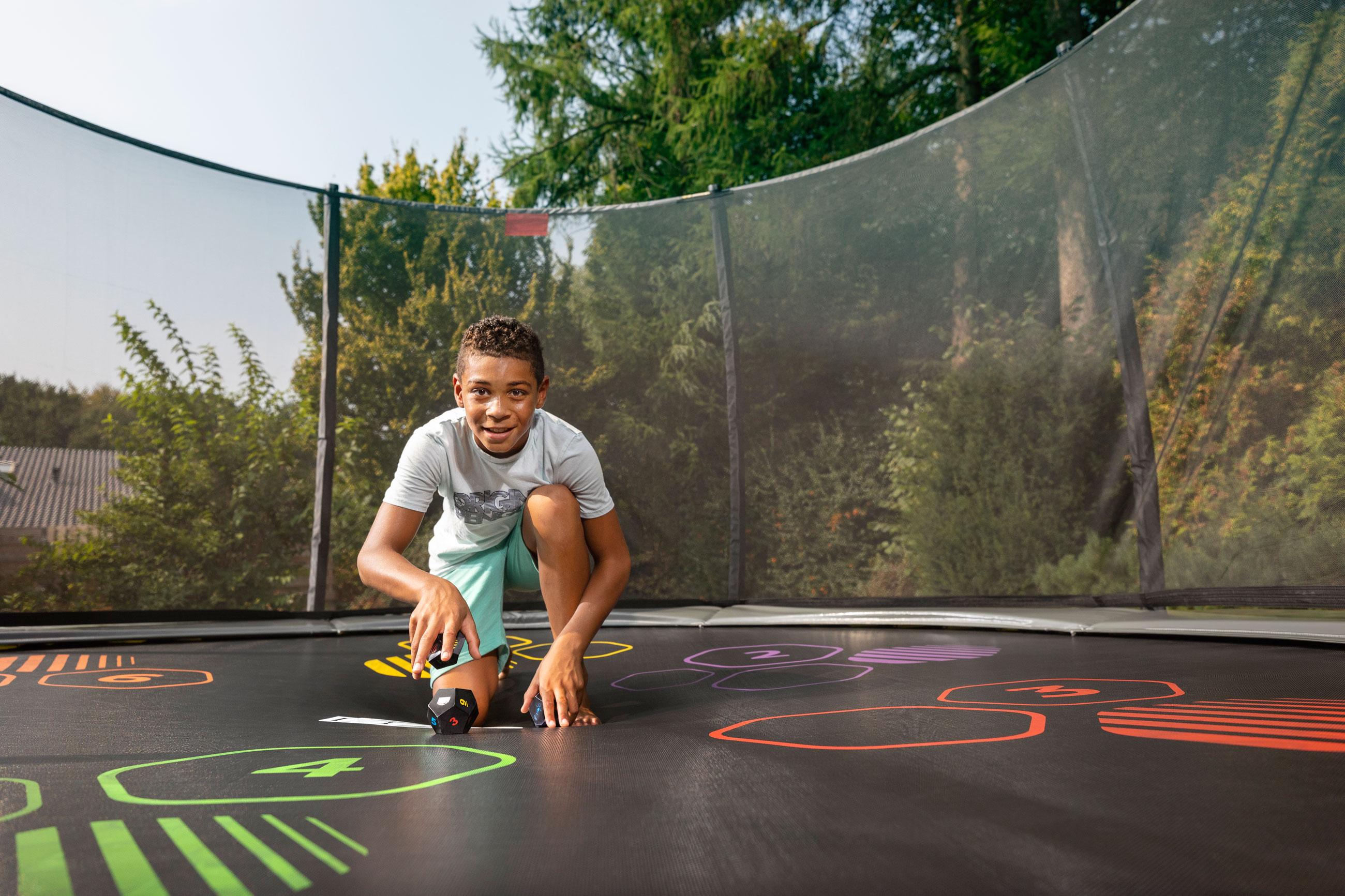 Trampolin Favorit Levels grau Sicherheitsnetz Comfort Ø430cm BERG toys Bild 6