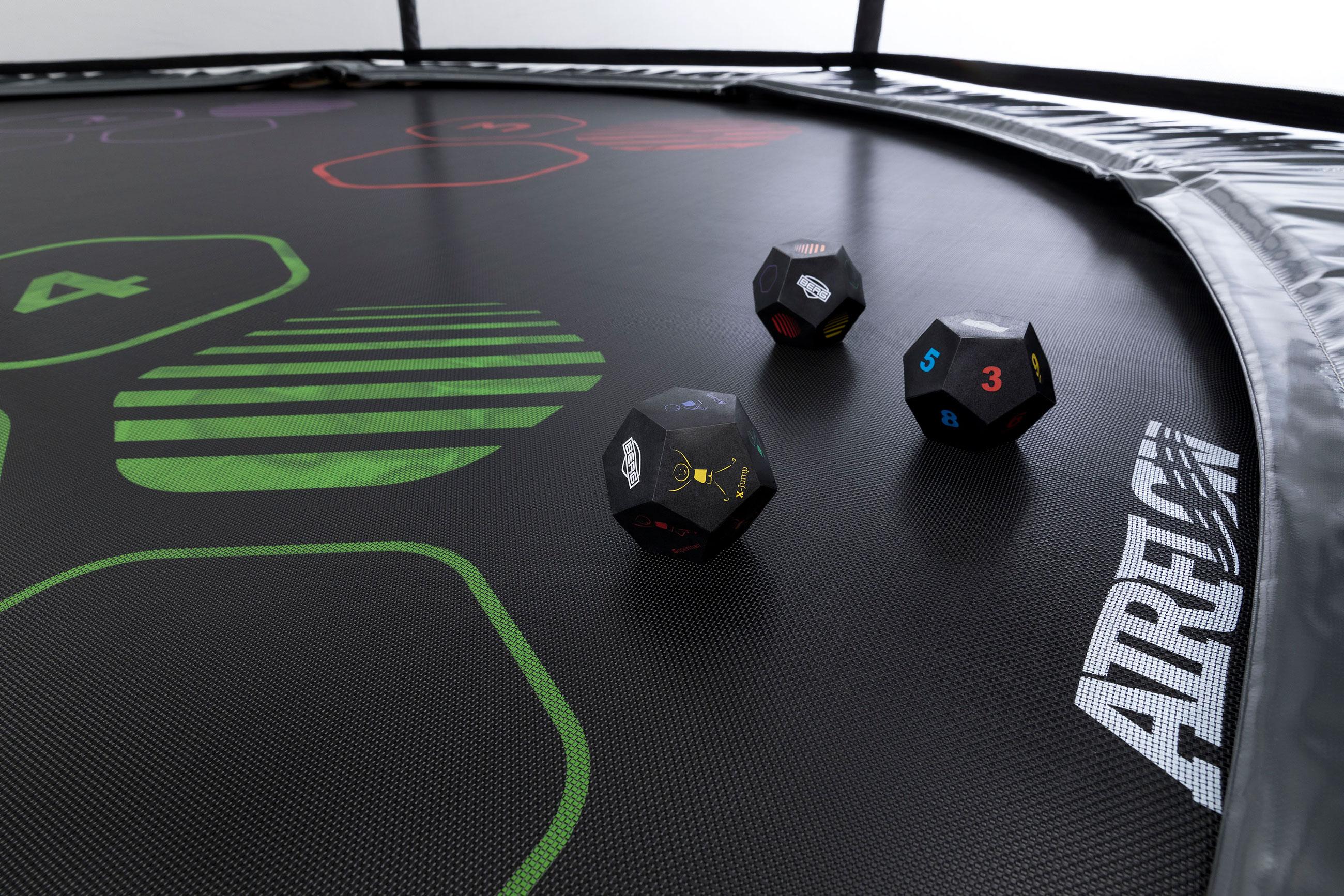 Trampolin Favorit Levels grau Sicherheitsnetz Comfort Ø430cm BERG toys Bild 7