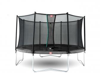 Trampolin Favorit grau mit Sicherheitsnetz Comfort Ø380cm BERG toys Bild 1
