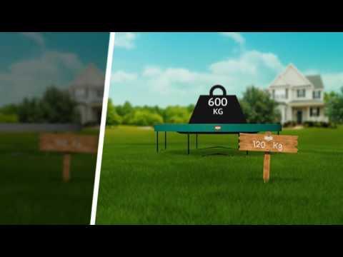 Trampolin Favorit mit Sicherheitsnetz Comfort Ø270cm BERG toys Video Screenshot 1428