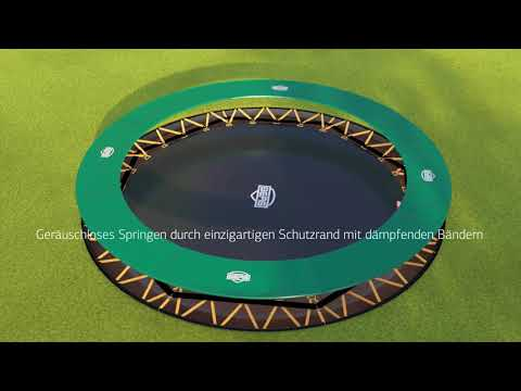 Trampolin FlatGround Champion Sports grün Ø430cm BERG toys Video Screenshot 2578