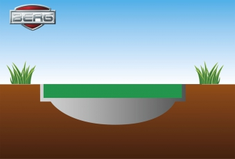 Trampolin FlatGround Champion Sports grün Ø430cm BERG toys Bild 3