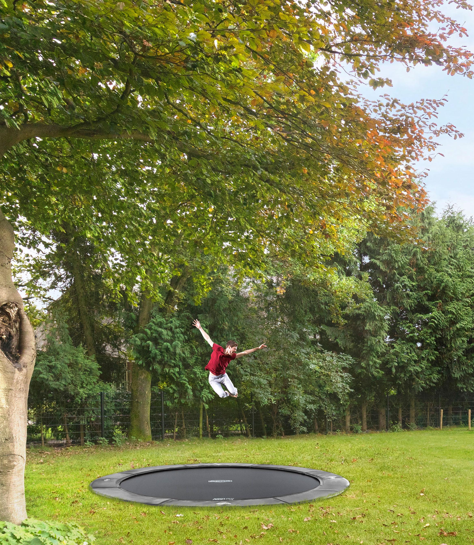Trampolin FlatGround Elite Sports grau Ø380cm BERG toys Bild 3