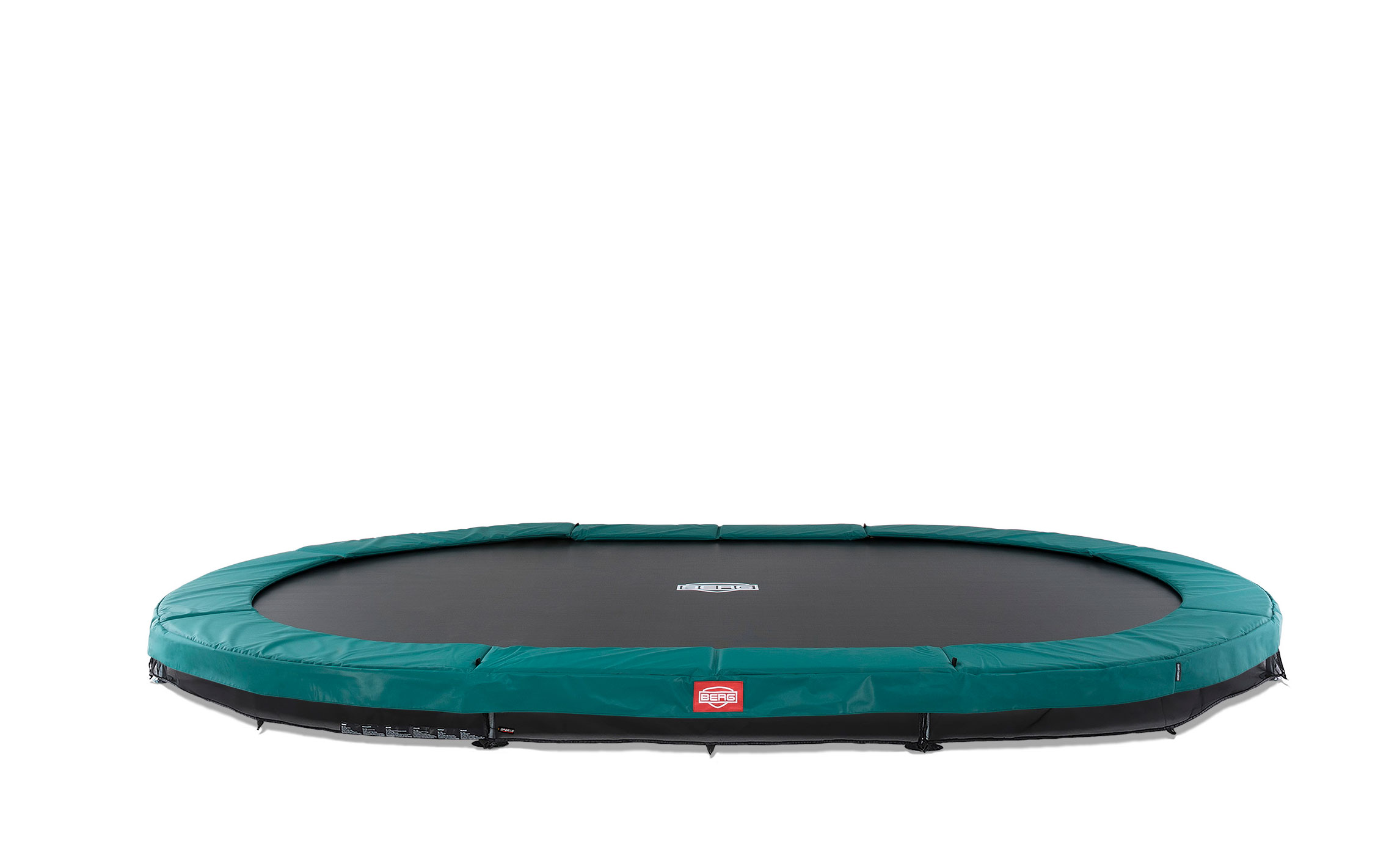 Trampolin Grand Champion InGround Sports grün 470x310cm BERG toys Bild 1