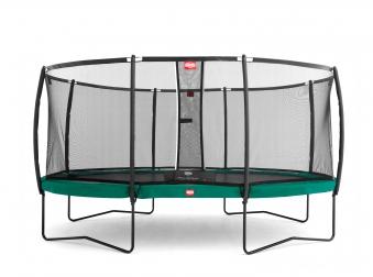 Trampolin Grand Champion grün + Netz Deluxe 515x365cm BERG toys Bild 1
