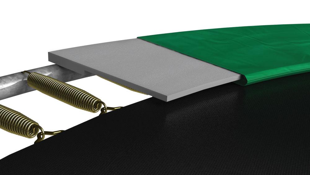 Trampolin Grand Favorit InGround+Netz Comfort 520x345 grün BERG toys Bild 6