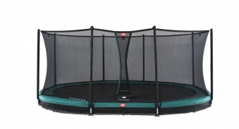 Trampolin Grand Favorit InGround+Netz Comfort 520x345 grün BERG toys Bild 1