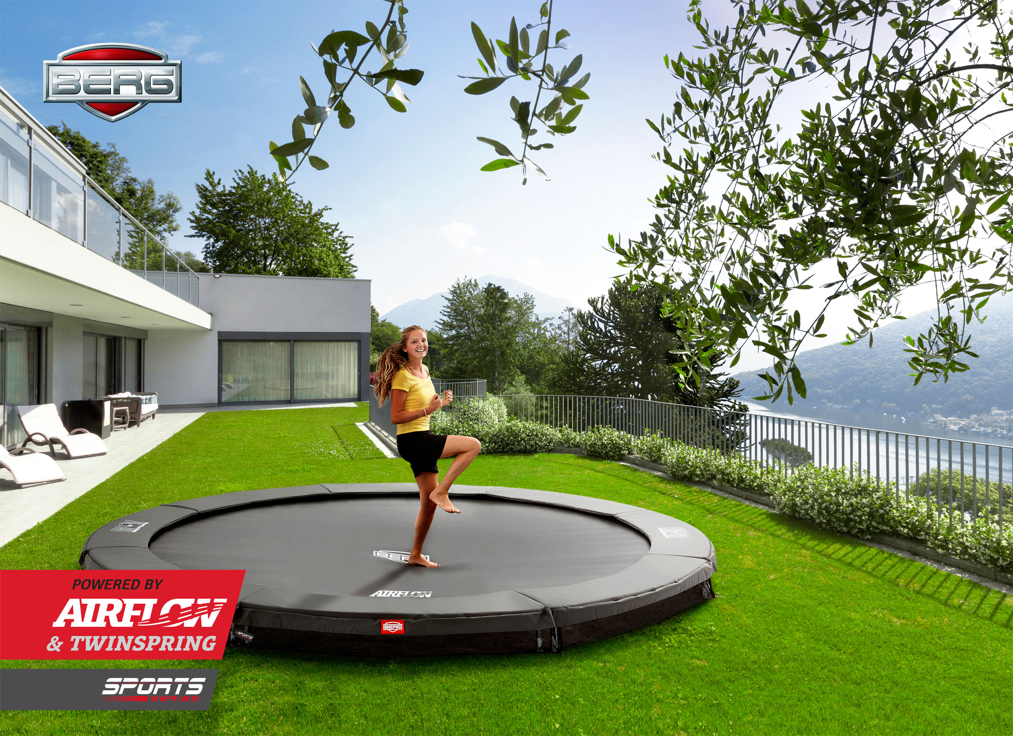 Trampolin InGround Champion Sports grün Ø430cm BERG toys Bild 4