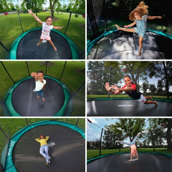 Trampolin InGround Champion grün + Netz Deluxe Ø270cm BERG toys Bild 3