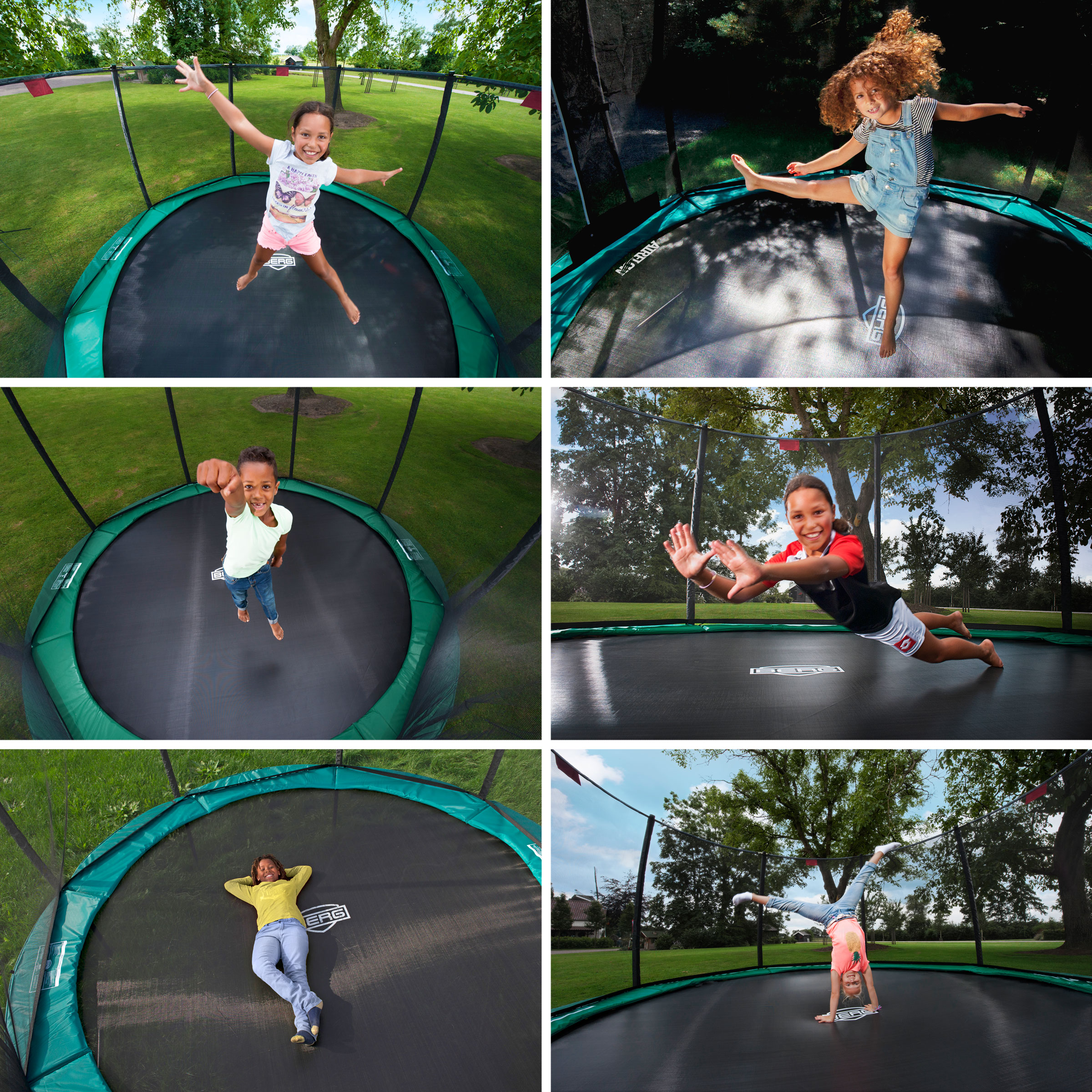 Trampolin InGround Champion grün + Netz Deluxe Ø380cm BERG toys Bild 3