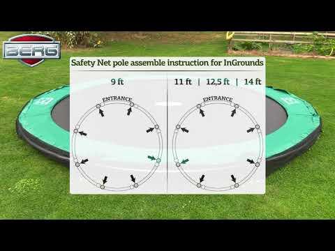 Trampolin InGround Champion grau + Netz Deluxe Ø380cm BERG toys Video Screenshot 2391