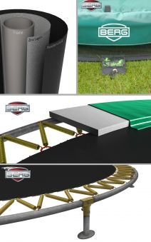 Trampolin InGround Elite Sports grün Ø430cm BERG toys Bild 2