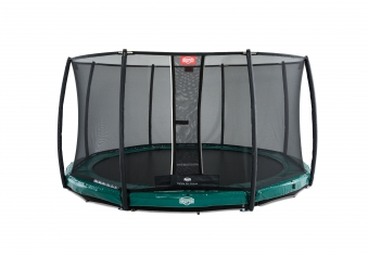 Trampolin InGround Elite grün + Netz Deluxe Ø430cm BERG toys Bild 1
