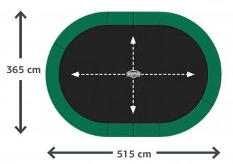 Trampolin InGround Grand Champion grün Netz Deluxe 515x365cm BERG toys Bild 2