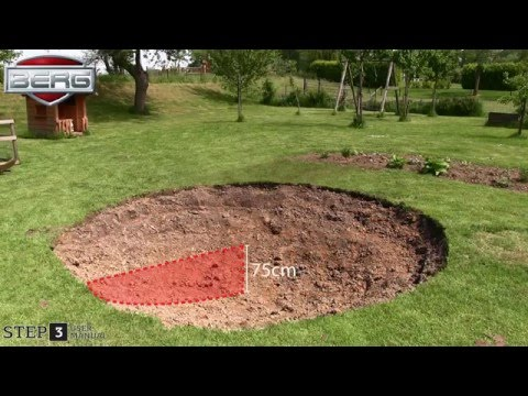 Trampolin Talent InGround + Sicherheitsnetz Comfort Ø300cm BERG toys Video Screenshot 1795