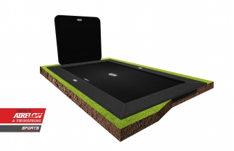 Trampolin Ultim Elite FlatGround Sports grau 500x300cm + AeroWall BERG
