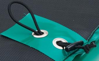 Trampolin InGround Etan Premium Gold 965 Netz Deluxe 281x201cm grün Bild 4