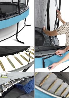 Trampolin EXIT Elegant Premium Ø305cm + Sicherheitsnetz Deluxe lila Bild 2