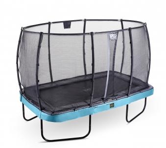 Trampolin EXIT Elegant Premium rechteckig 214x366cm + Netz Deluxe blau Bild 1