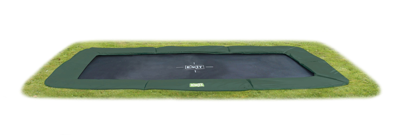 Trampolin EXIT InTerra Ground Level rechteckig 244x427cm grün Bild 1