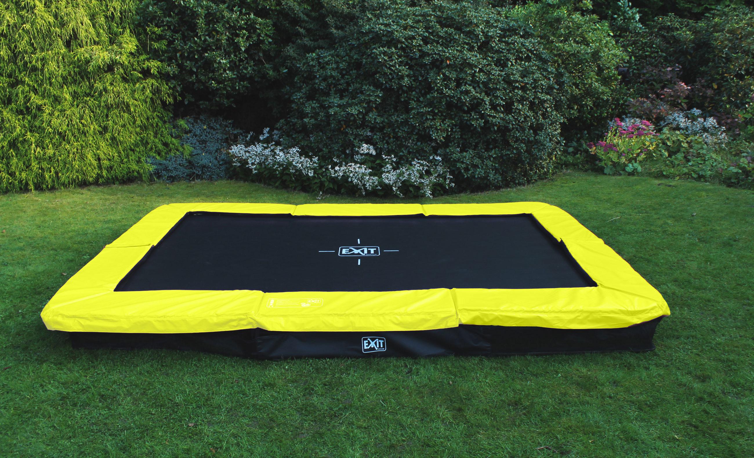 Trampolin EXIT Silhouette Ground rechteckig 214x305cm grün Bild 4