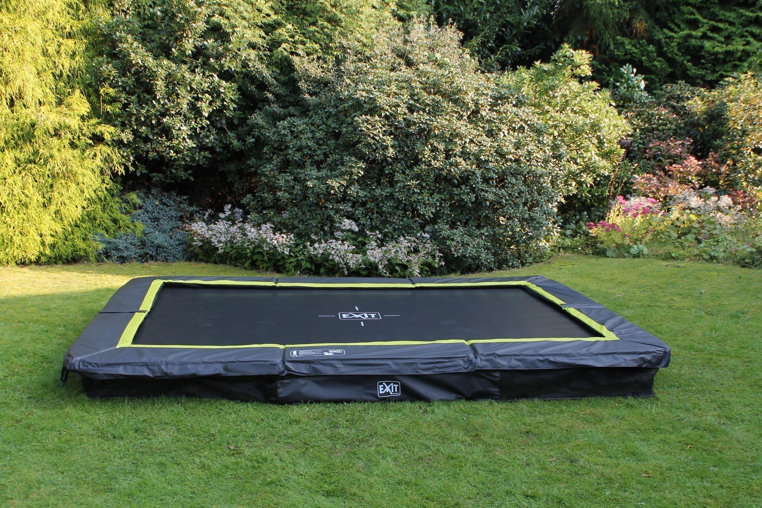 Trampolin EXIT Silhouette Ground rechteckig 214x305cm schwarz Bild 2