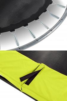 Trampolin EXIT Silhouette mit Sicherheitsnetz Ø183cm Lime grün Bild 2
