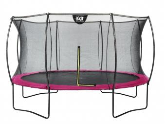 Trampolin EXIT Silhouette mit Sicherheitsnetz Ø427cm pink Bild 1