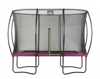 Trampolin EXIT Silhouette rechteckig + Sicherheitsnetz 214x305cm pink Bild 1