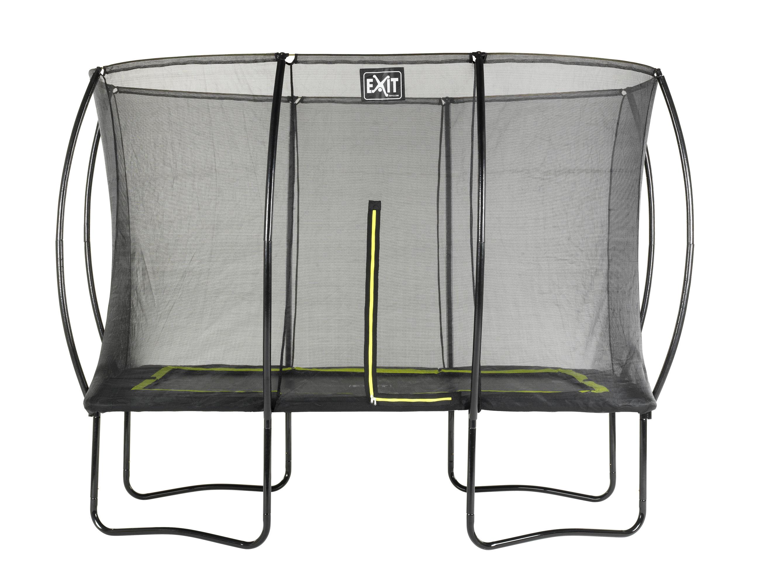 Trampolin EXIT Silhouette rechteckig + Sicherheitsnetz 214x305cm schw. Bild 1