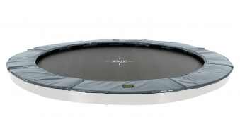 Trampolin EXIT Supreme Ground Level Ø366cm grau Bild 1