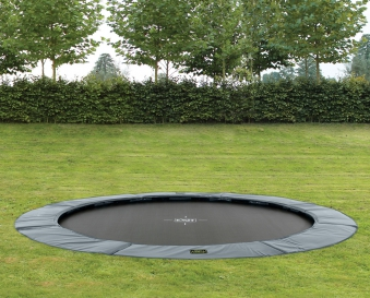 Trampolin EXIT Supreme Ground Level Ø366cm grau Bild 2