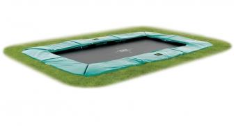 Trampolin EXIT Supreme Ground Level rechteckig 214x366cm grün Bild 1