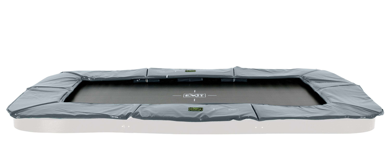 Trampolin EXIT Supreme Ground Level rechteckig 214x366cm grau Bild 1