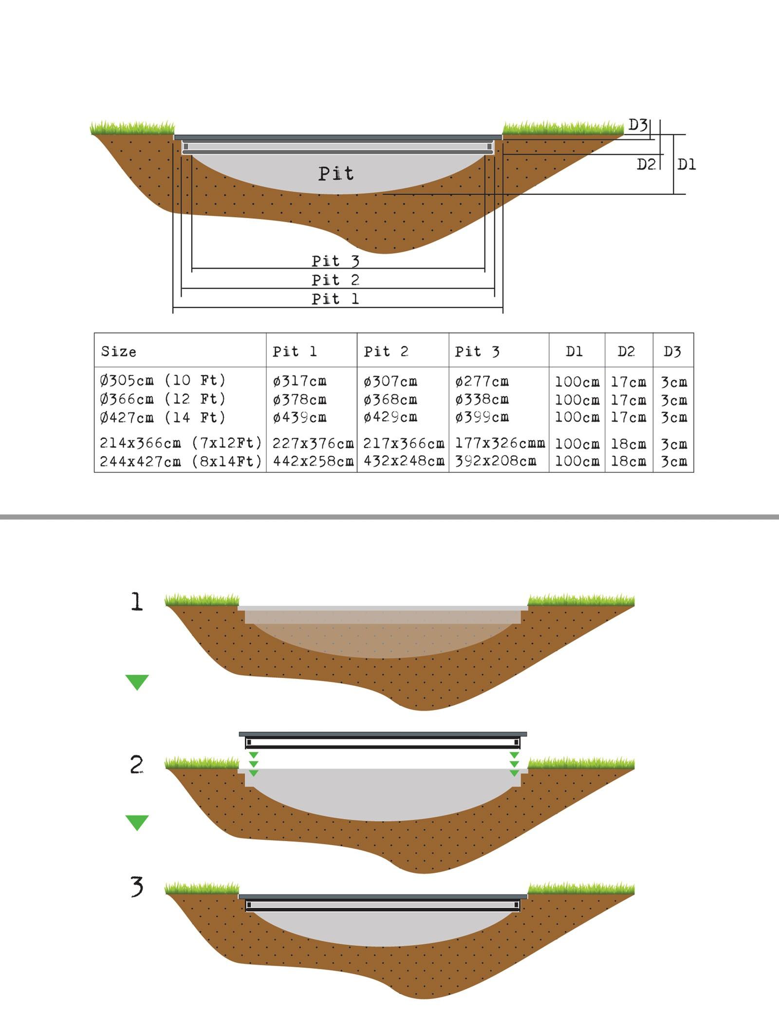 Trampolin EXIT Supreme Ground Level rechteckig 214x366cm grau Bild 3